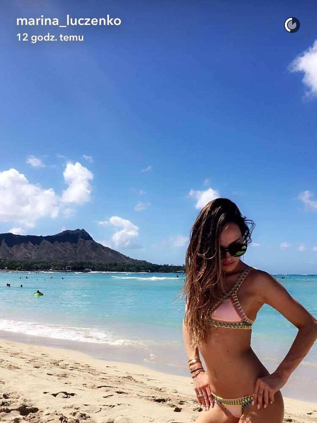 MaRina na plaży