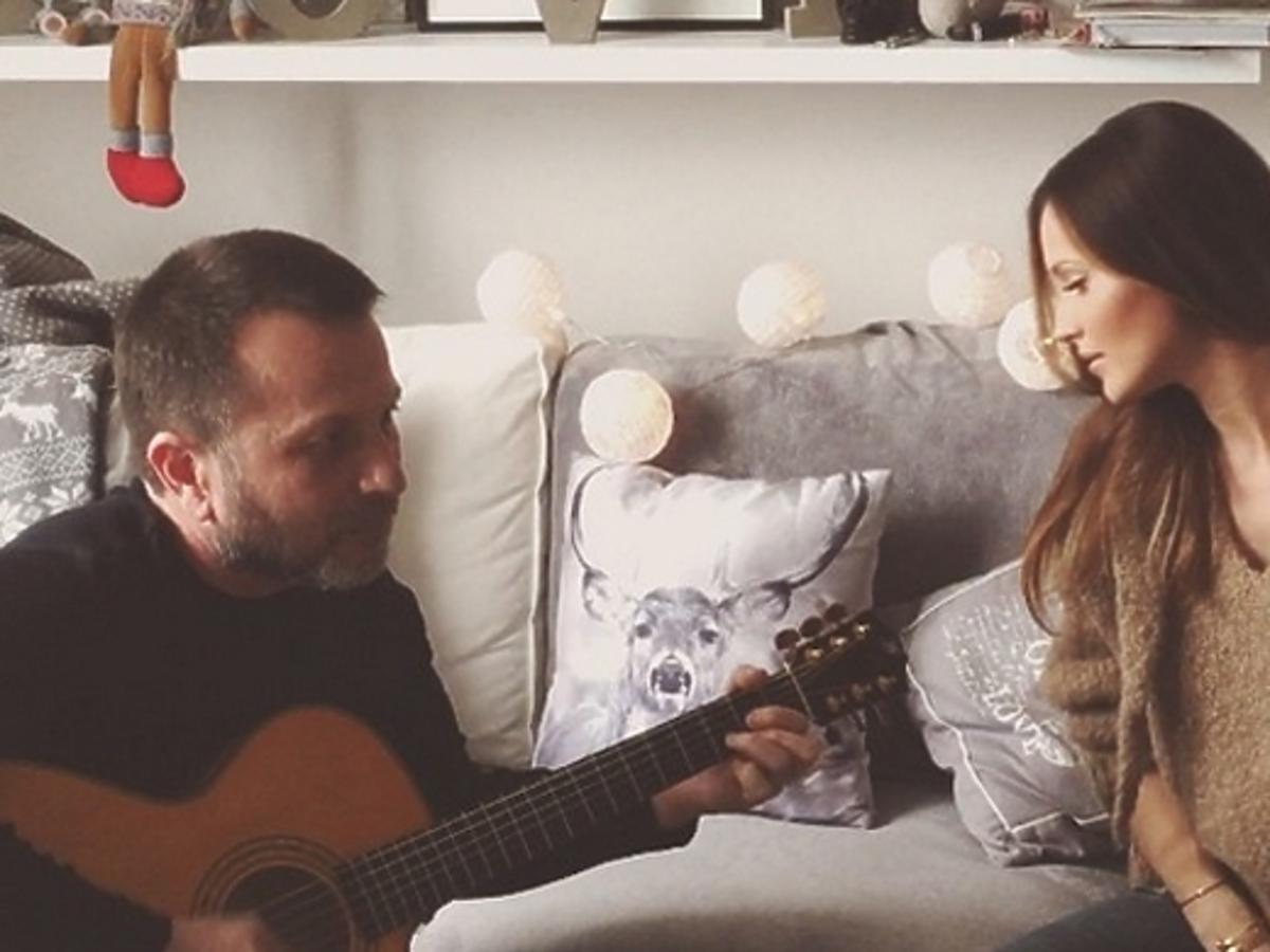 Marina śpiewa z tatą