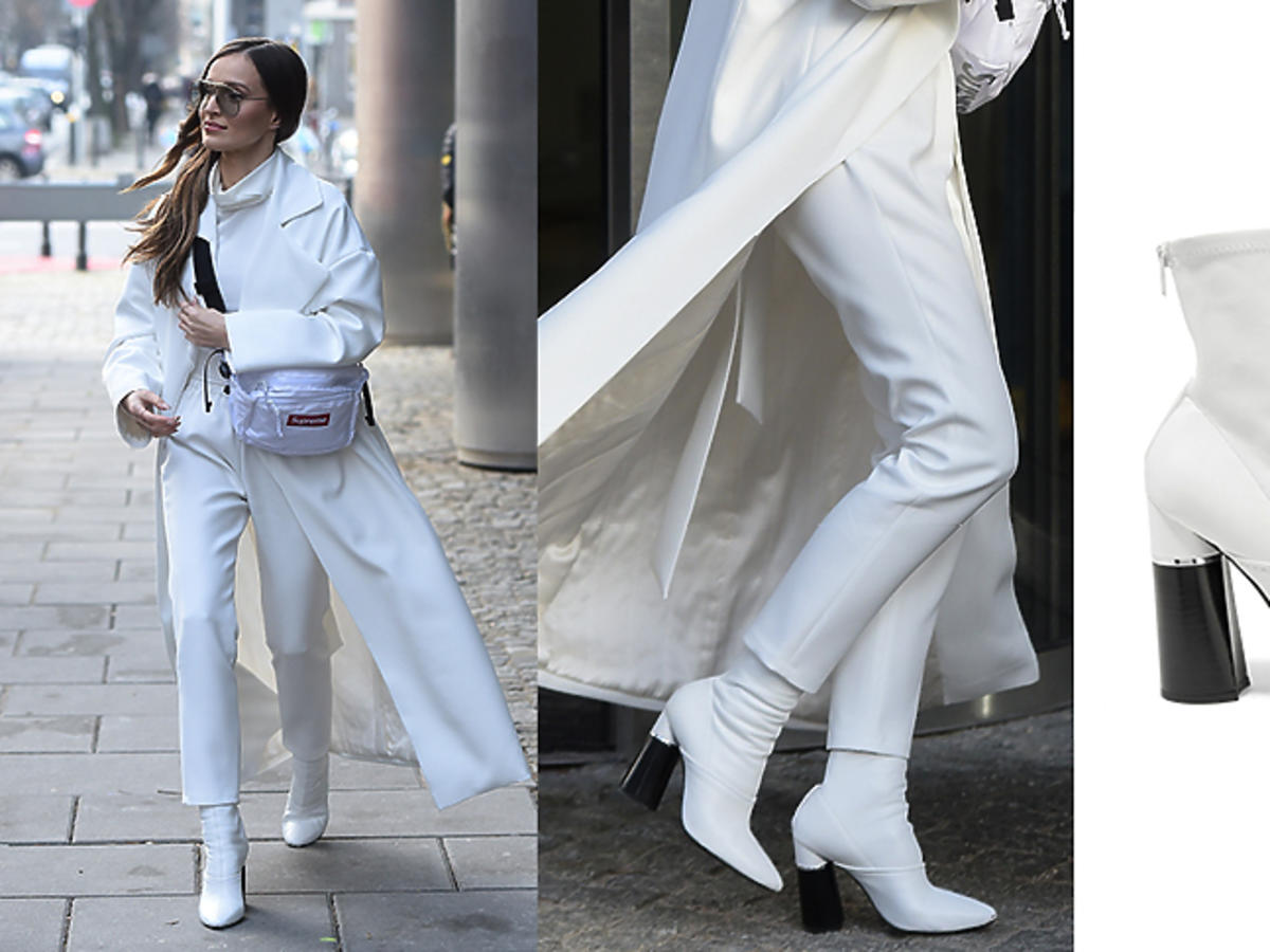 Marina w białym total looku z nerką Supreme