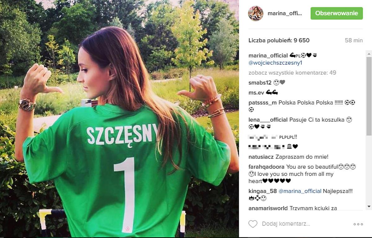 Marina w koszulce Wojtka Szczęsnego