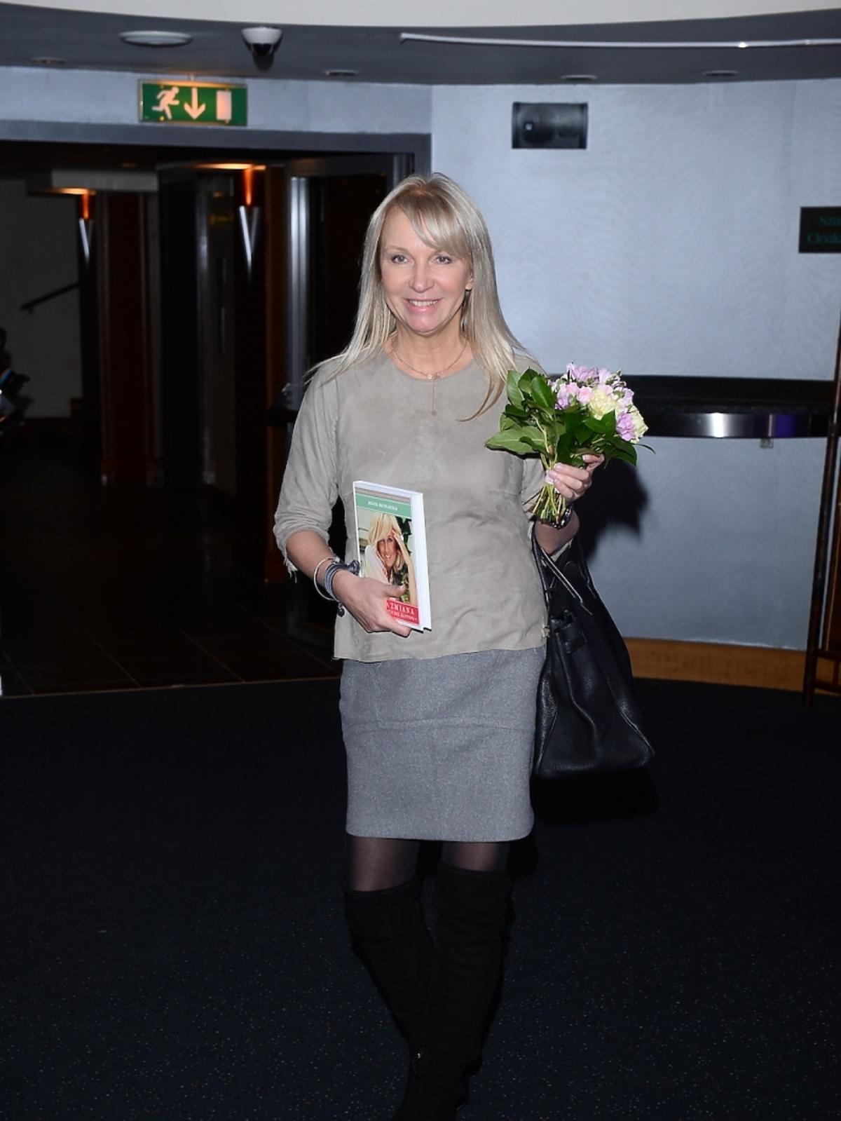 Mariola Bojarska-Ferenc na premierze książki Agaty Młynarskiej