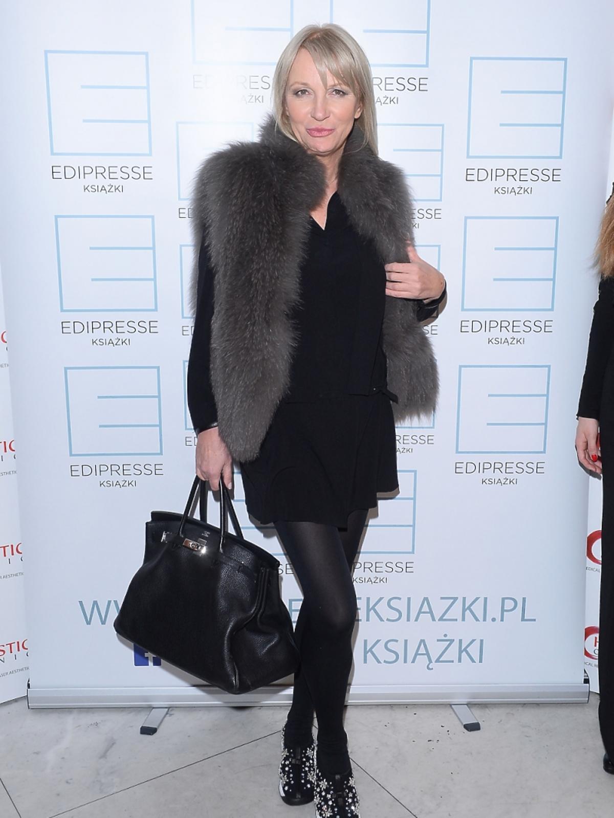 Mariola Bojarska Ferenc na premierze książki Krzysztofa Gojdzia