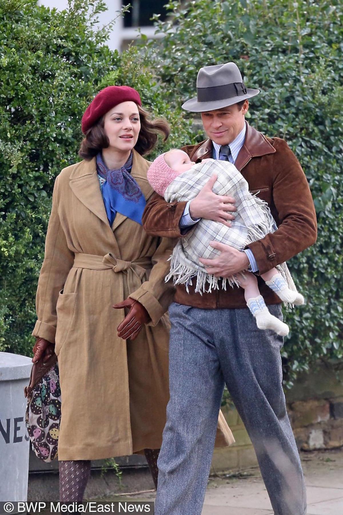Marion Cotillard, Brad Pitt jako małżeństwo na planie filmu