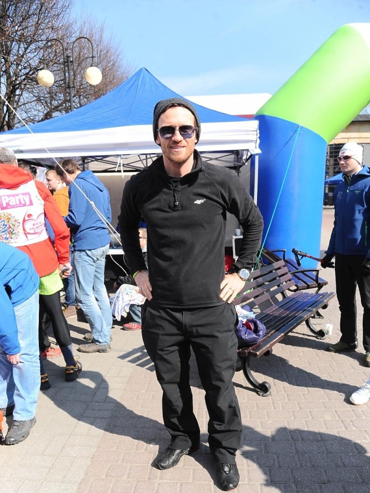 Mariusz Czerkawski na charytatywnym biegu
