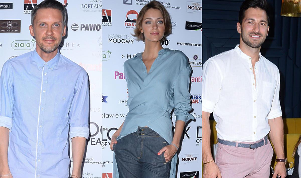 Mariusz Przybylski, Renata Kaczoruk i Rafał Maślak na konferencji konkursu The Look of The Year