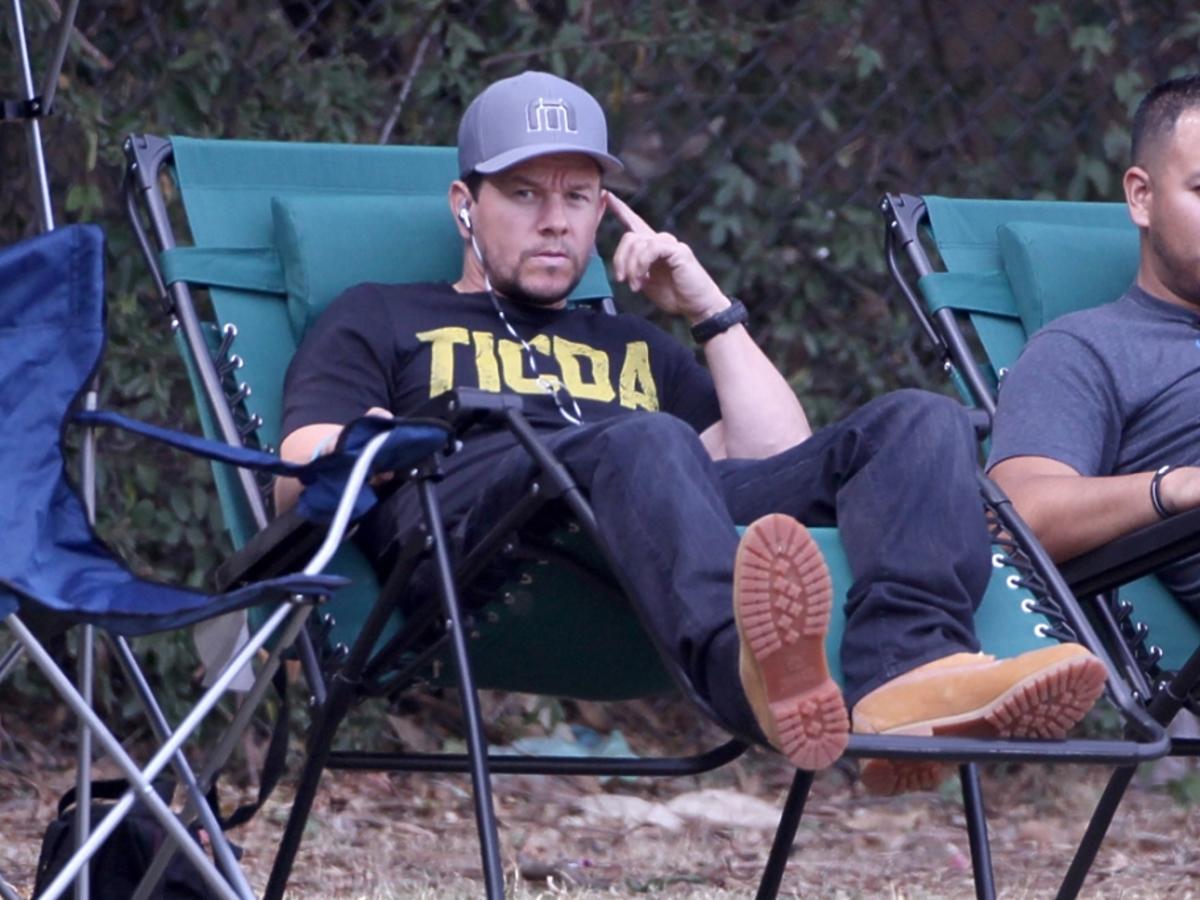 Mark Wahlberg na meczu syna