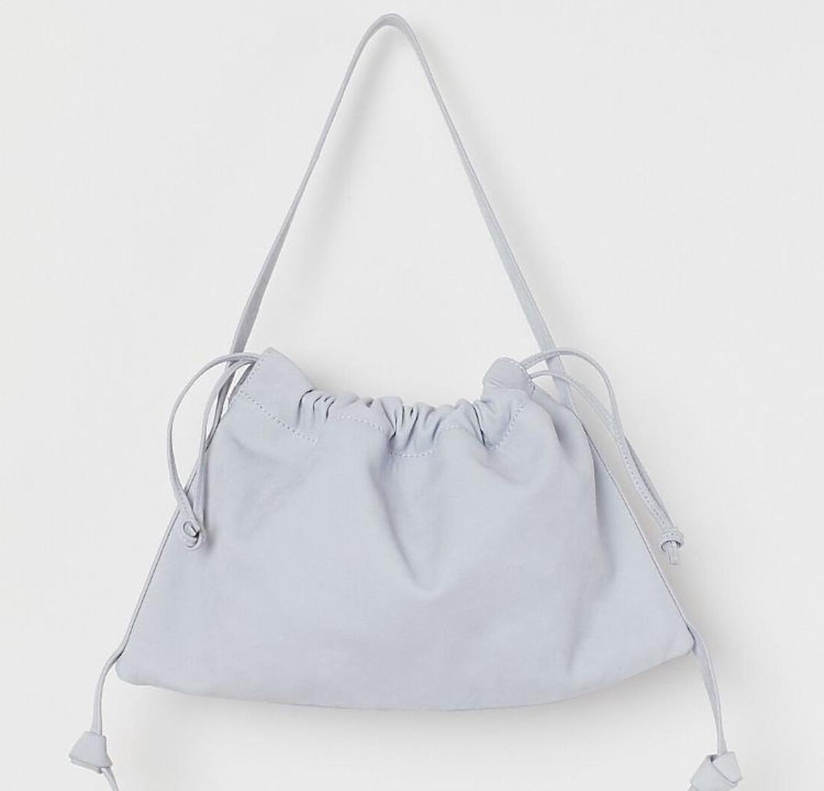 Marszczona niebieska torebka z H&M
