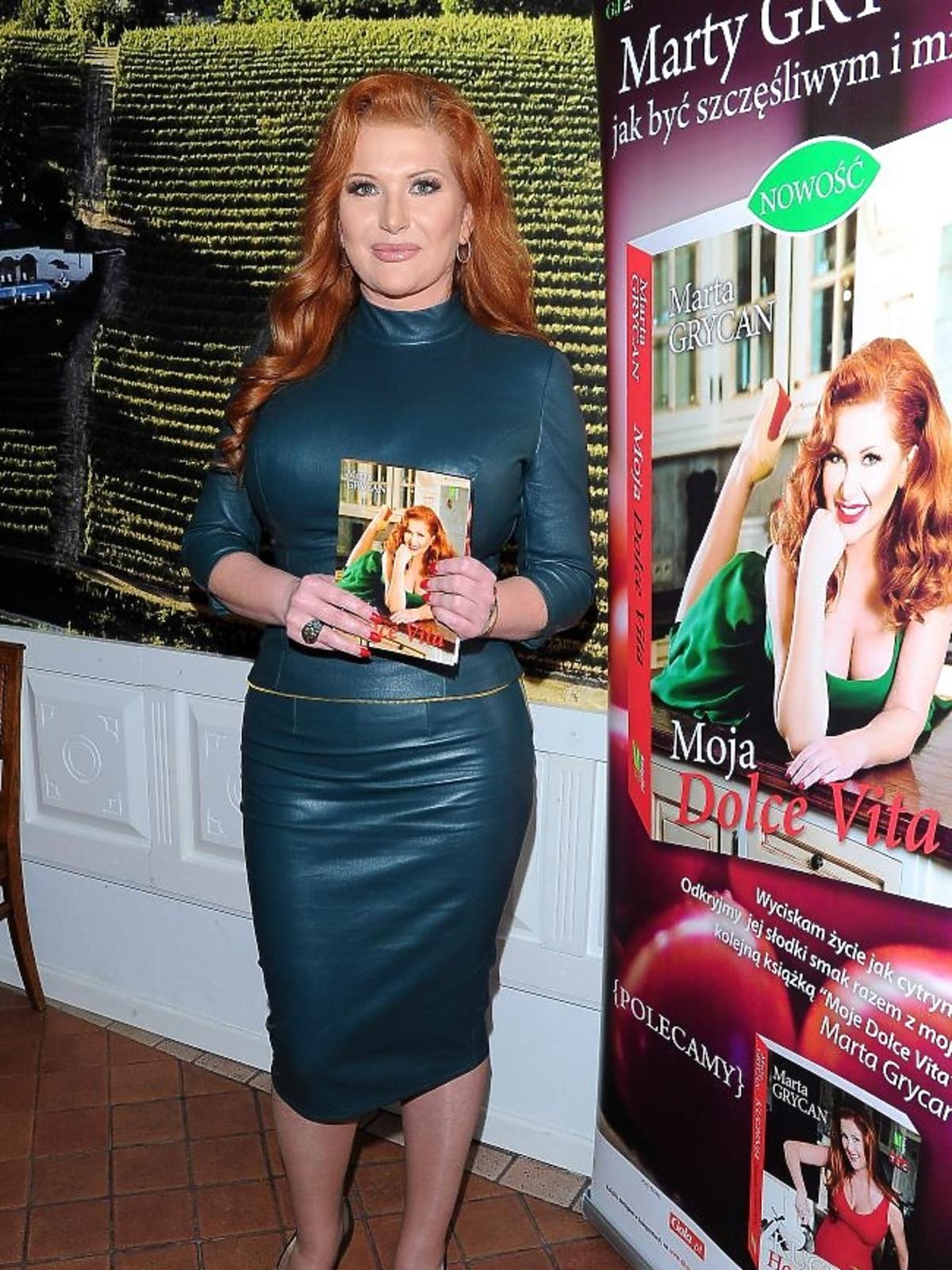 Marta Grycan na promocji książki Moja Dolce Vita