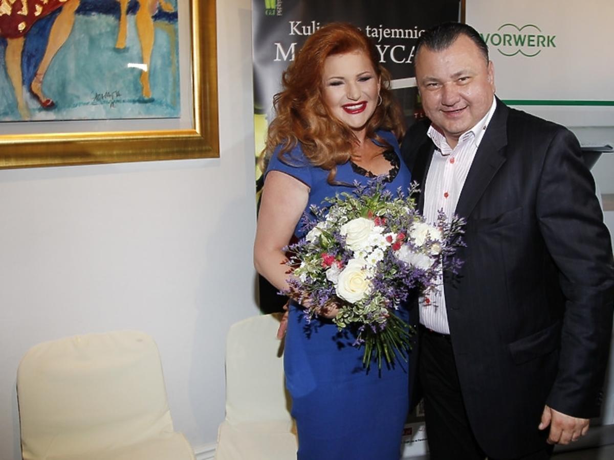 Marta Grycan na uroczystej premierze książki