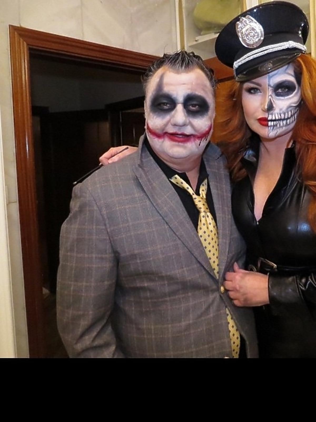 Marta Grycan z mężem na Halloween 2014
