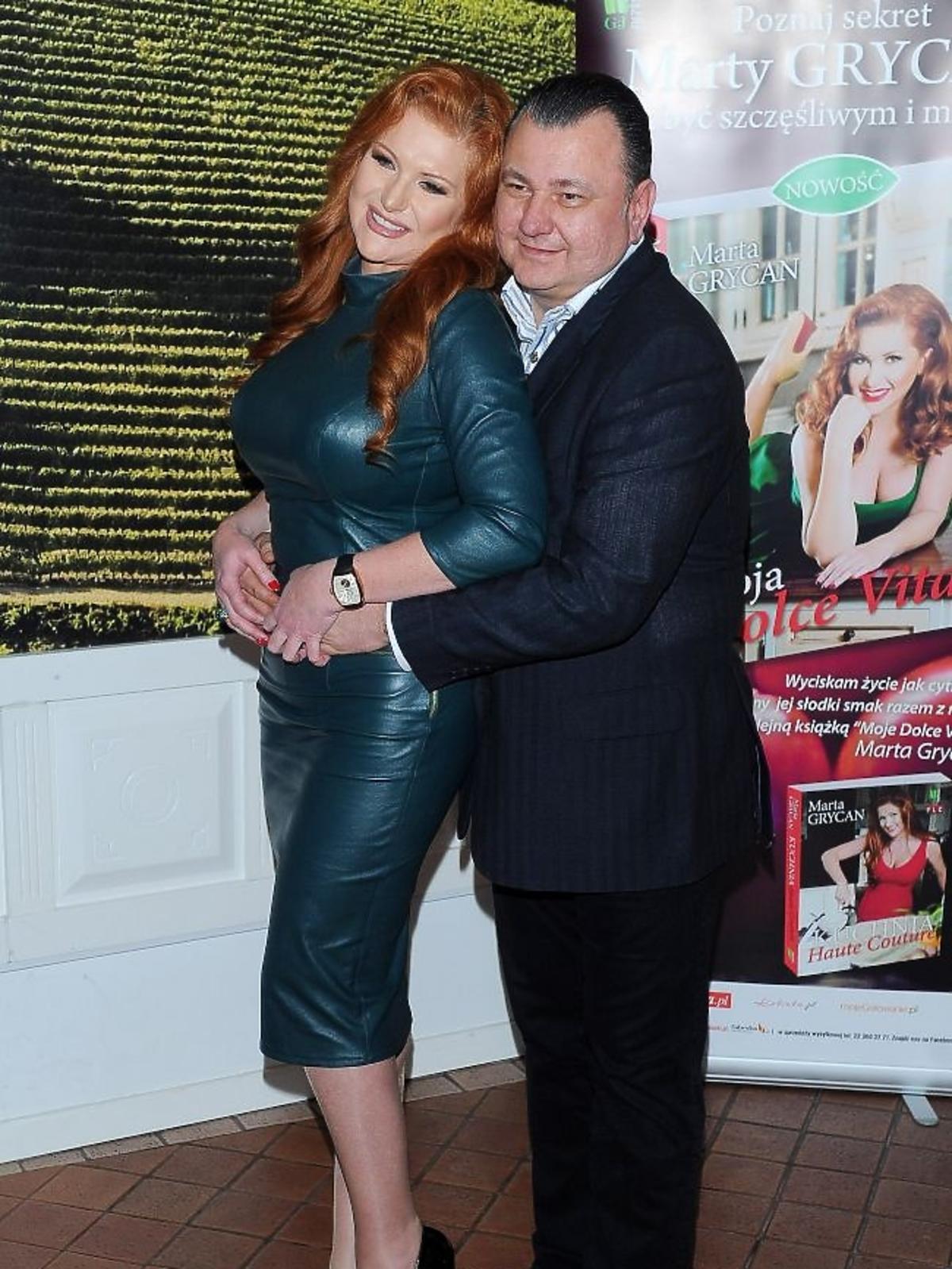Marta Grycan z mężem promuje książkę Moja Dolce Vita
