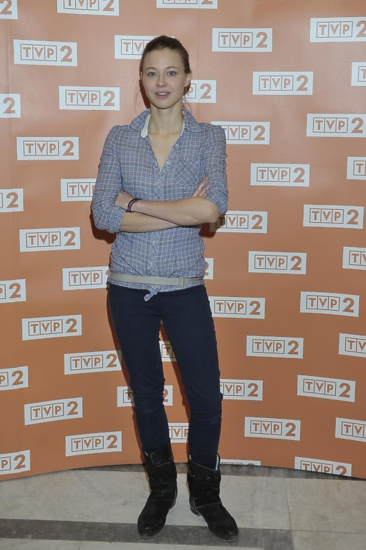Marta Juras na konferencji serialu