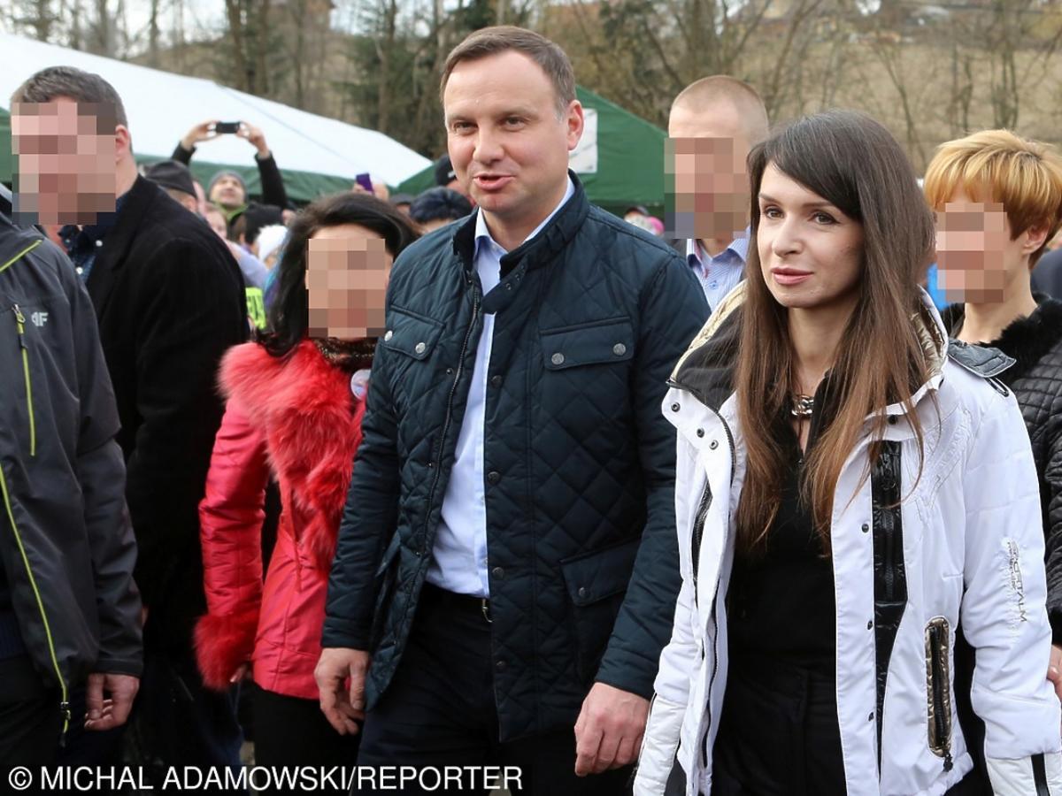Marta Kaczyńska i Andrzej Duda na nartach