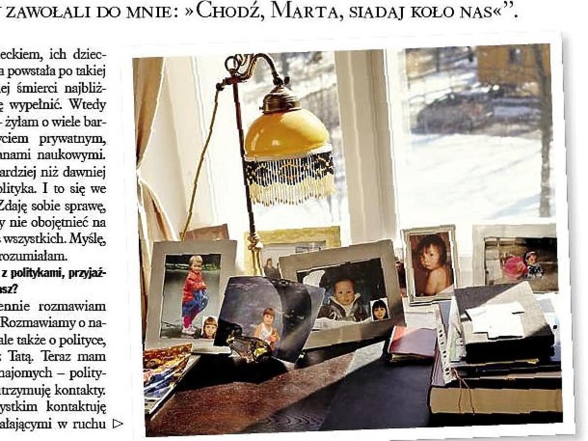 Marta Kaczyńska w sopockim domu rodziców