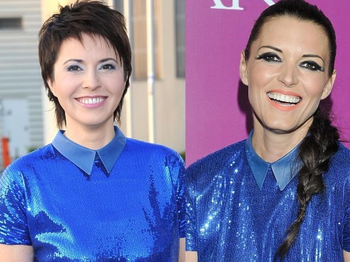 Marta Kielczyk i Ilona Felicjańska w takiej samej sukience
