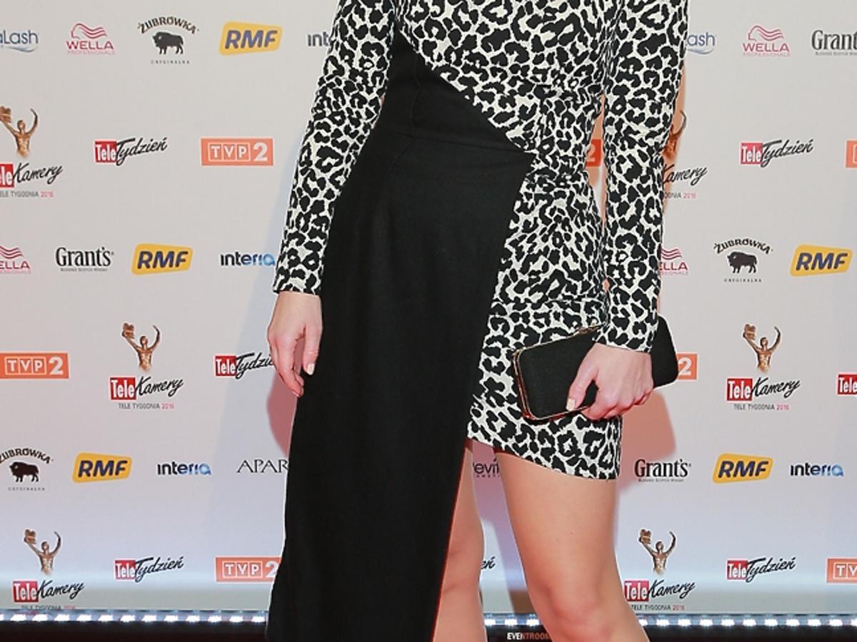 Marta Kielczyk w asymetrycznej sukience