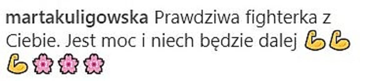 Marta Kuligowska komentuje wpis Joanny Górskiej