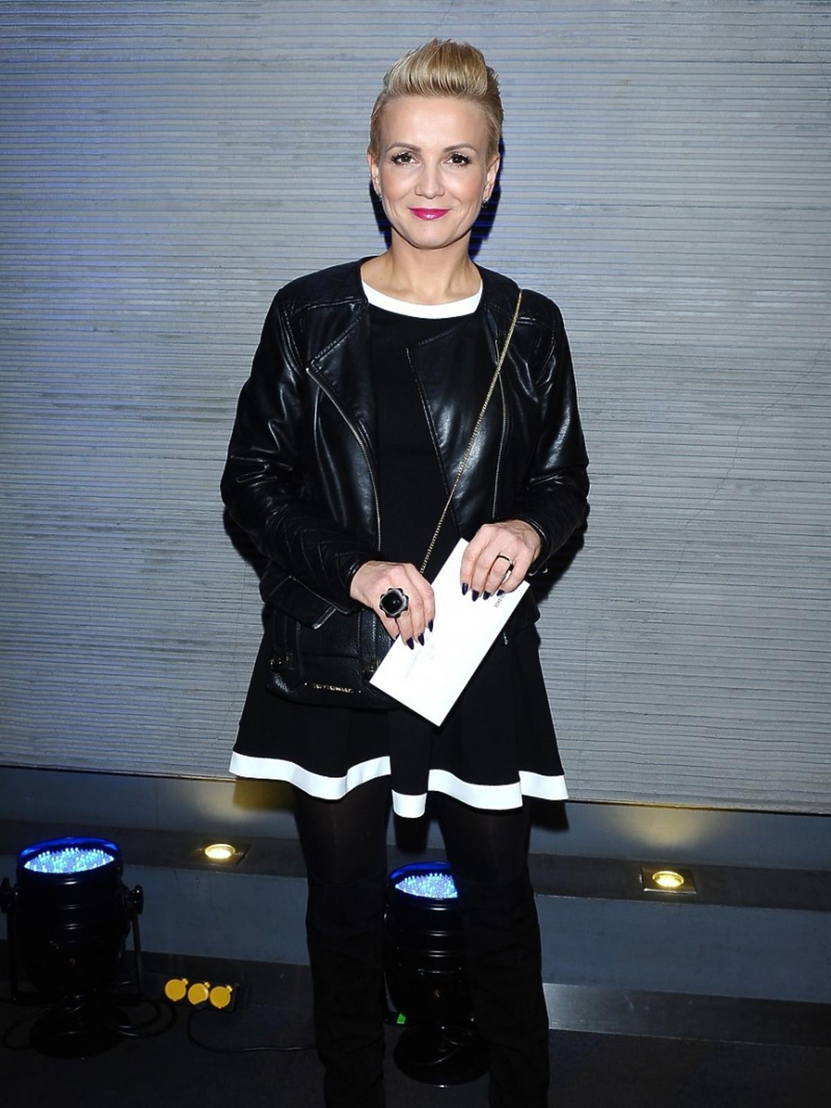 Marta Kuligowska na premierze spektaklu