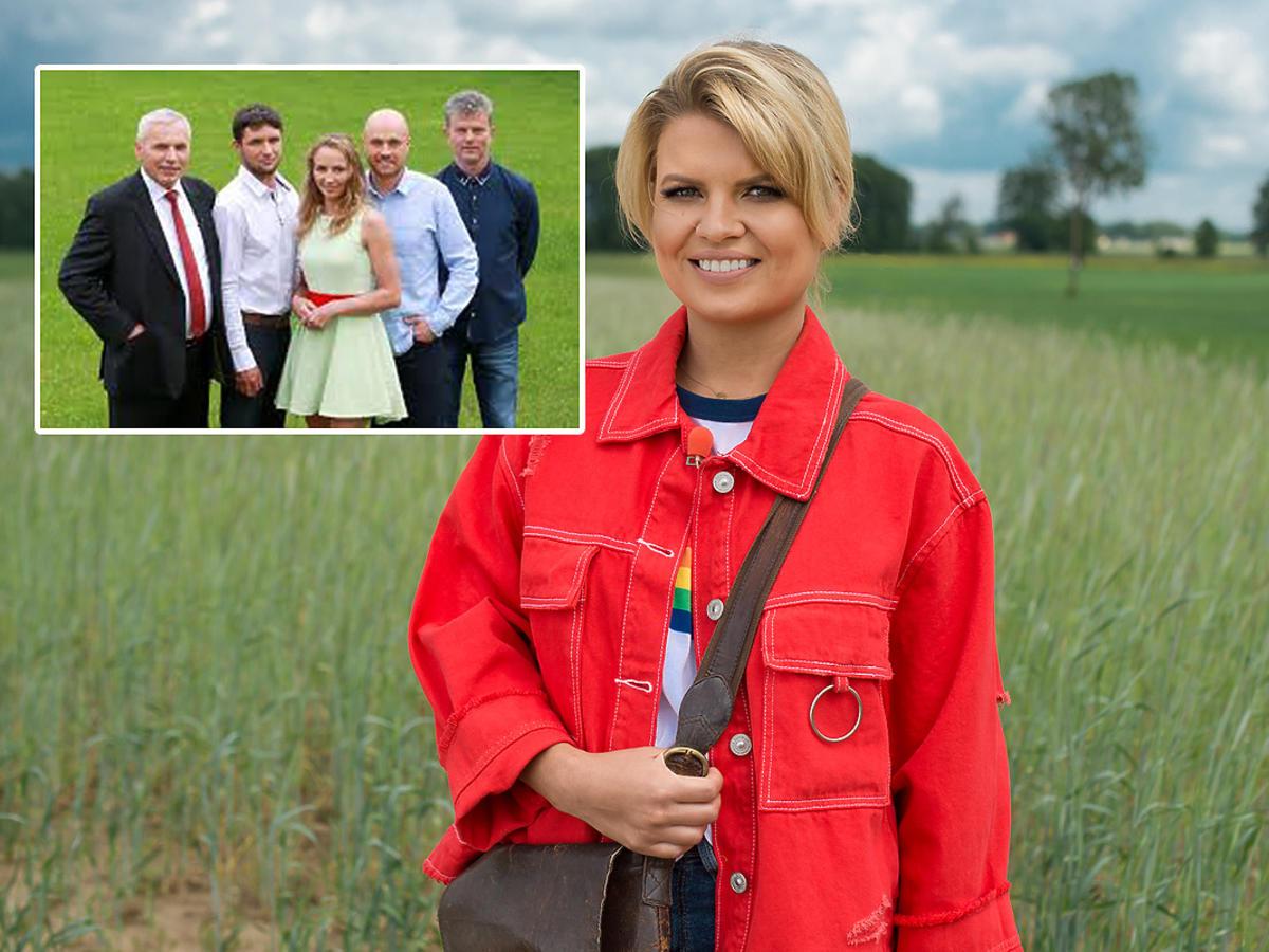 Marta Manowska na planie Rolnik szuka żony