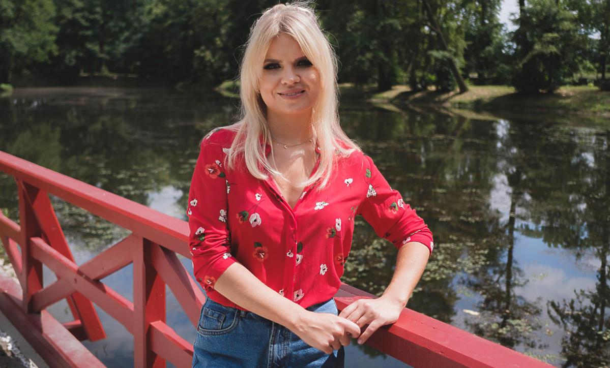 Marta Manowska na planie Rolnik szuka żony 5