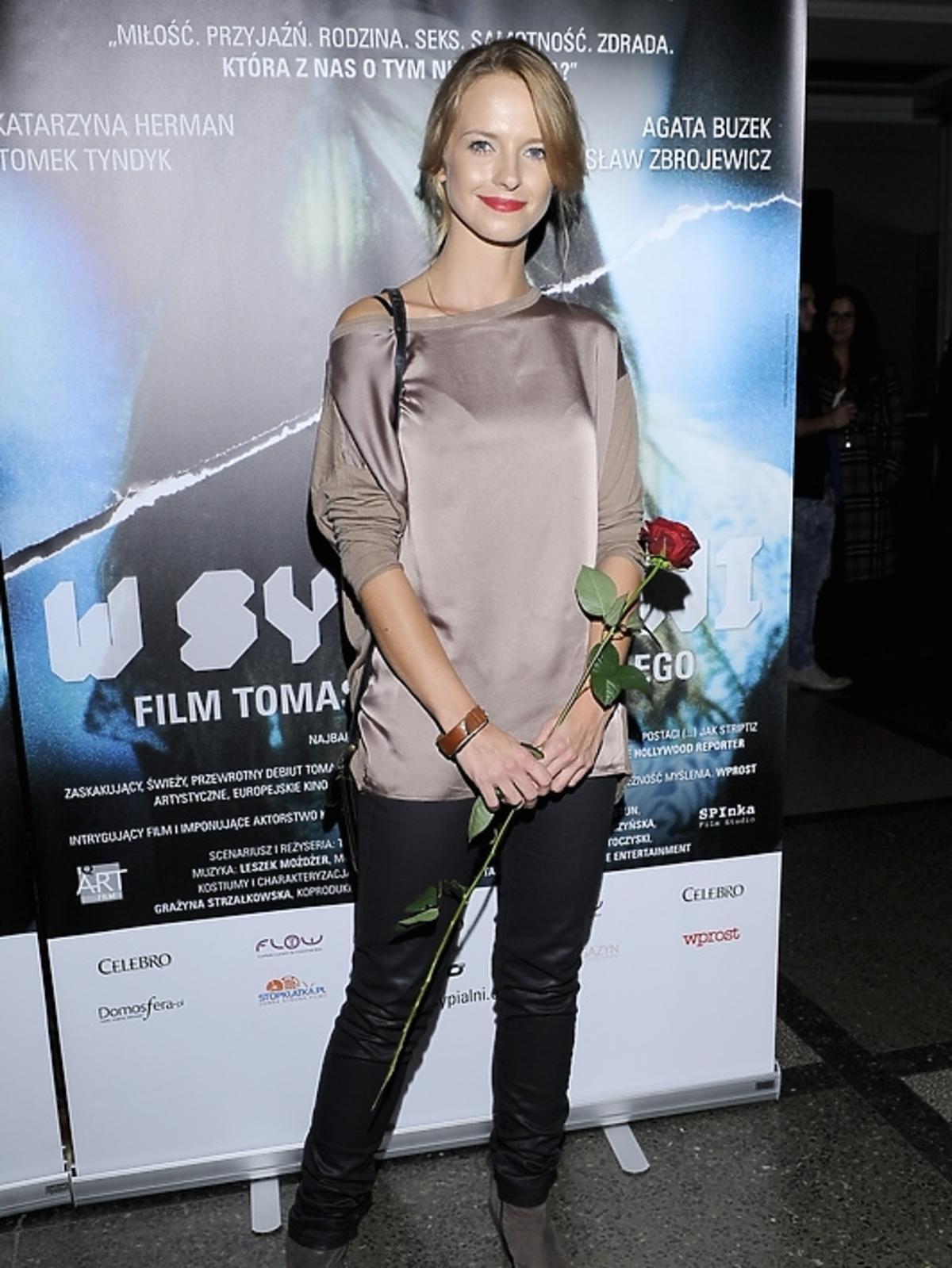 Marta Nieradkiewicz na premierze filmu