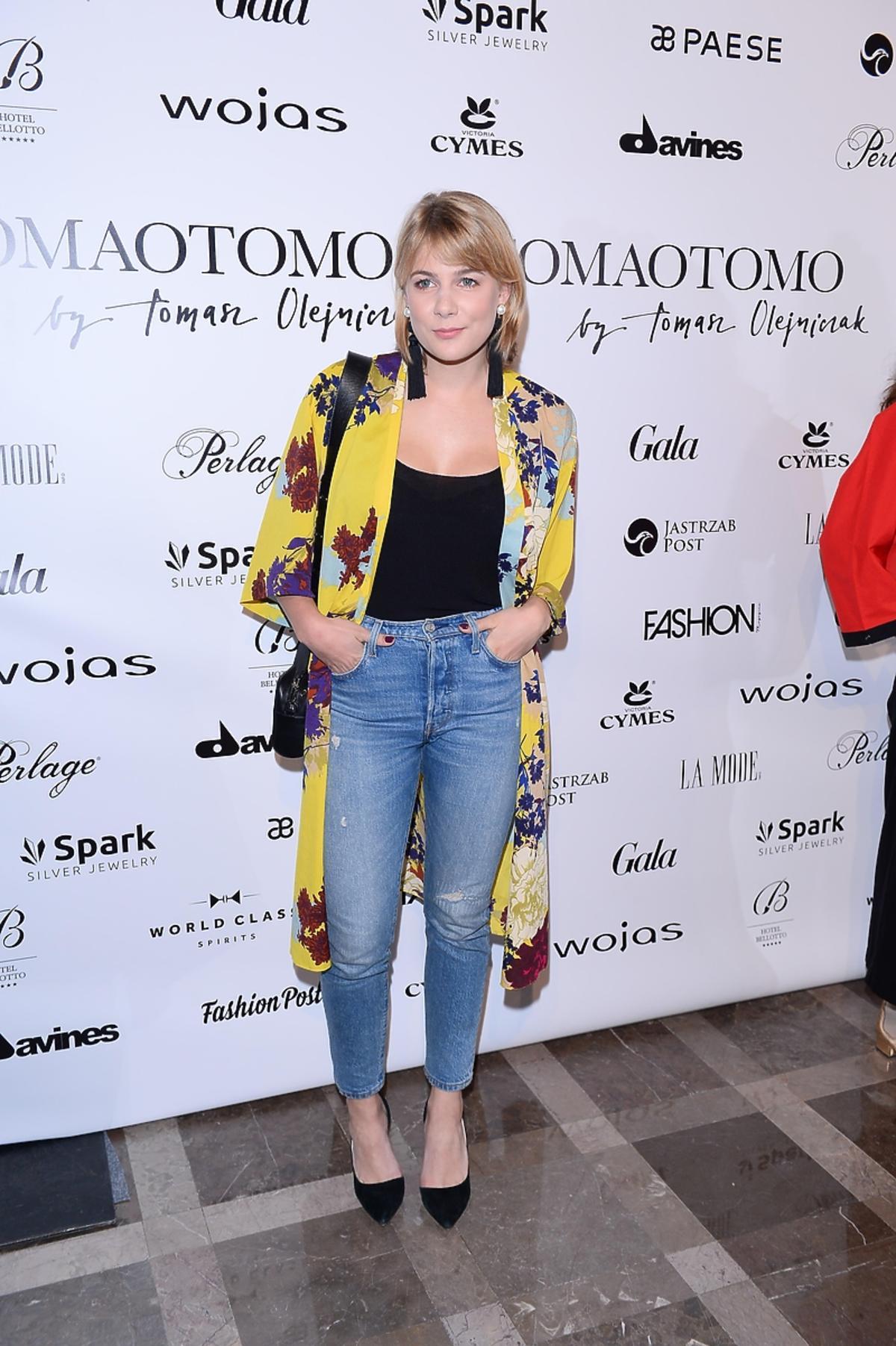 Marta Wierzbicka na pokazie Tomaotomo