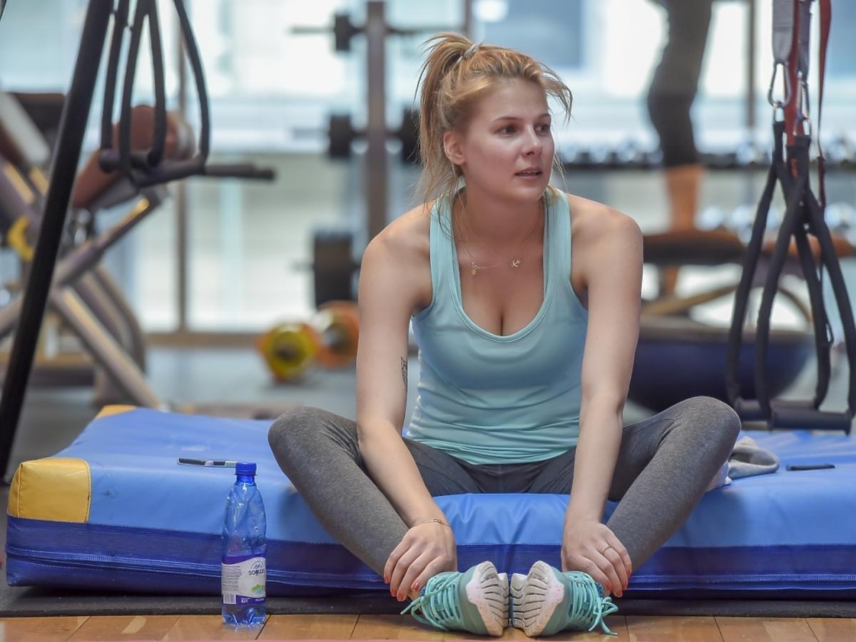 Marta Wierzbicka podczas przygotowań do Reebok Fitness Camp 2015