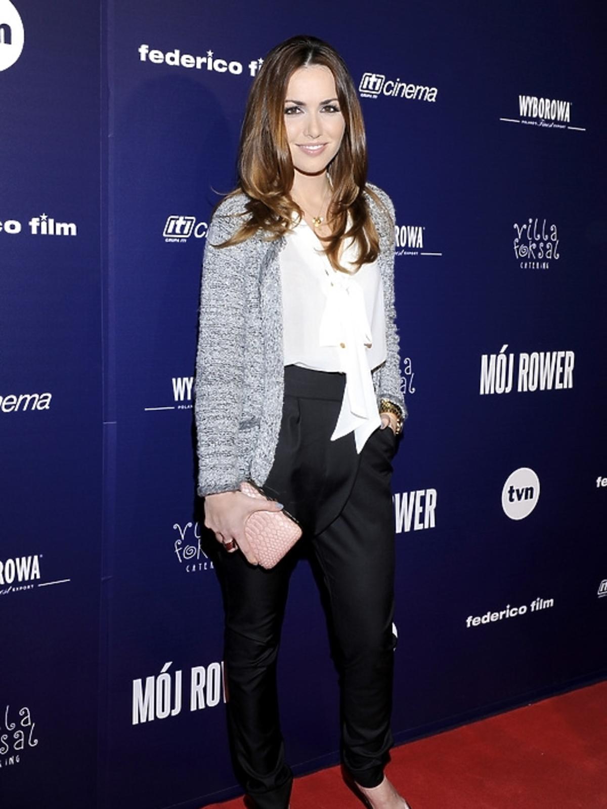 Marta Żmuda-Trzebiatowska na premierze filmu