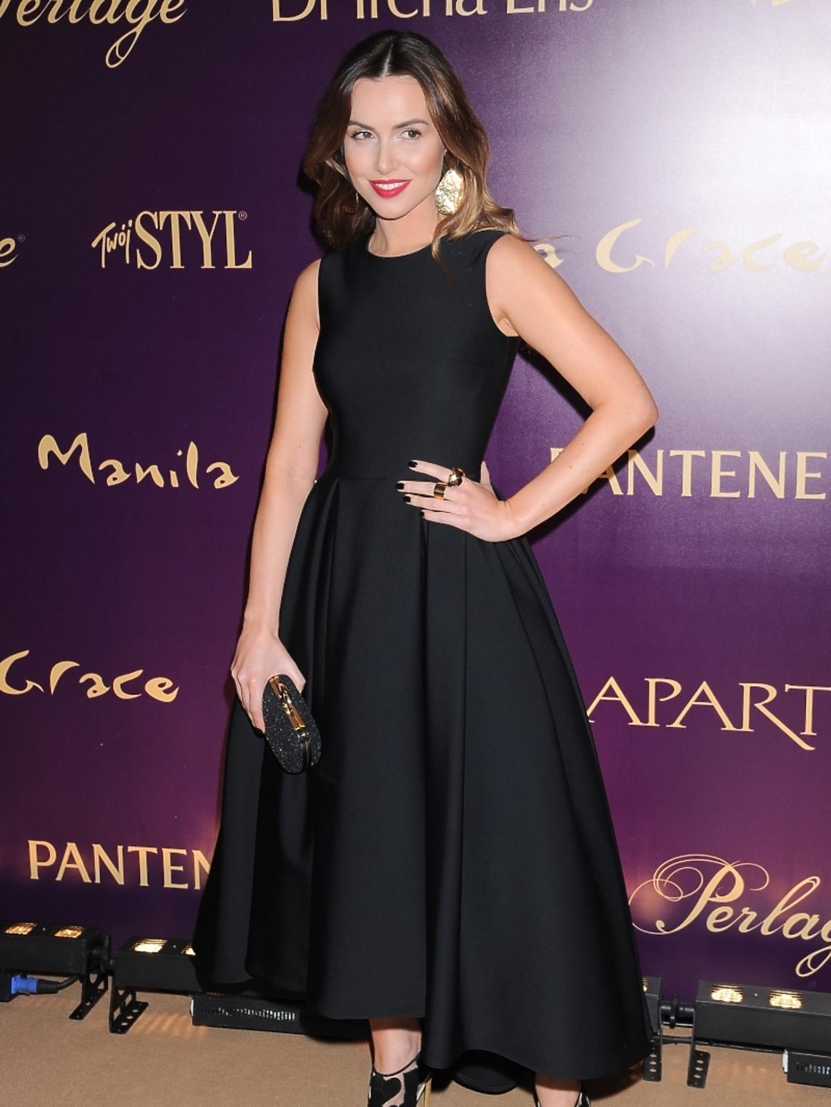 Marta Żmuda-Trzebiatowska w eleganckiej sukience
