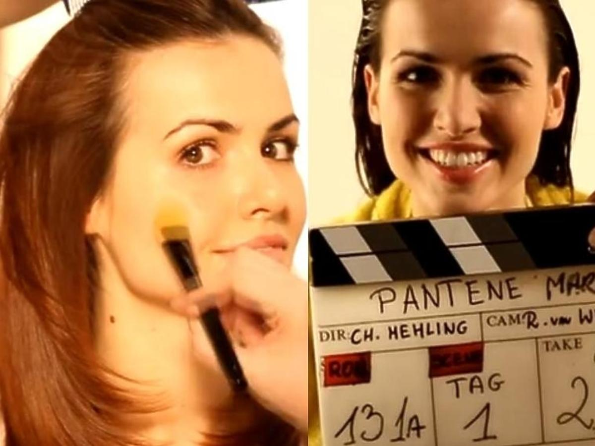 Marta Żmuda-Trzebiatowska za kulisami reklamy Pantene Pro-V