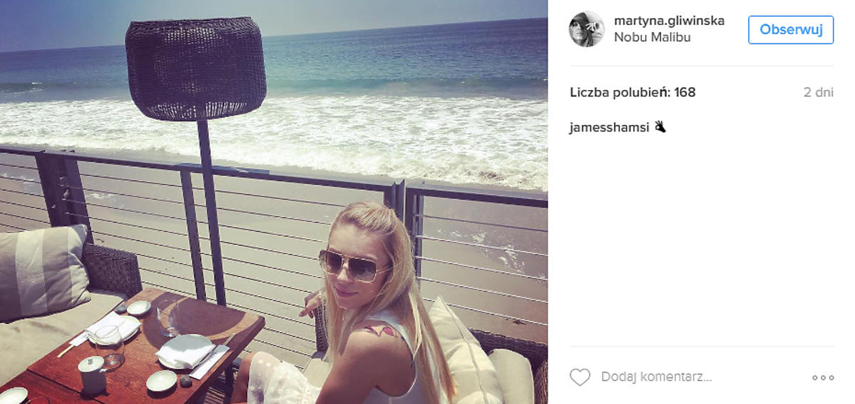 Martyna Gliwińska na plaży