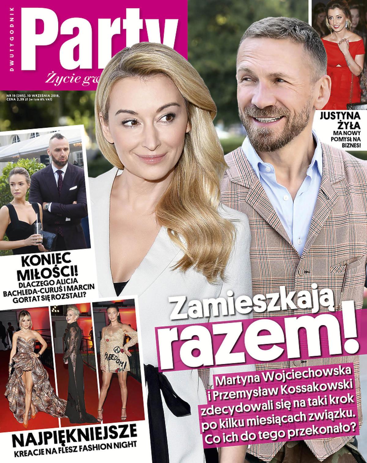 Martyna Wojciechowska i Przemek Kossakowski na okładce Party