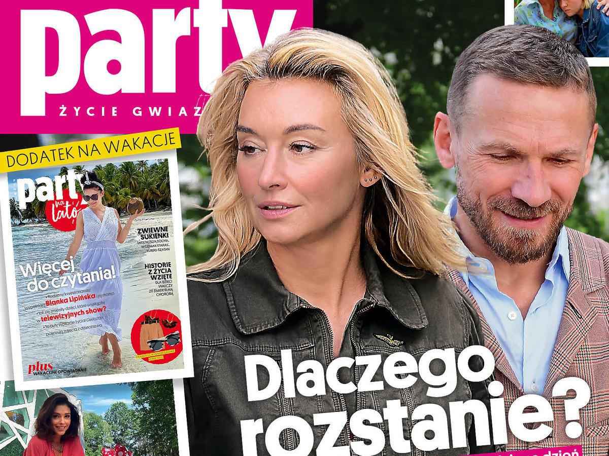 """Martyna Wojciechowska na okładce """"Party"""". Dlaczego po 3 miesiącach od ślubu rozstała się z mężem?"""