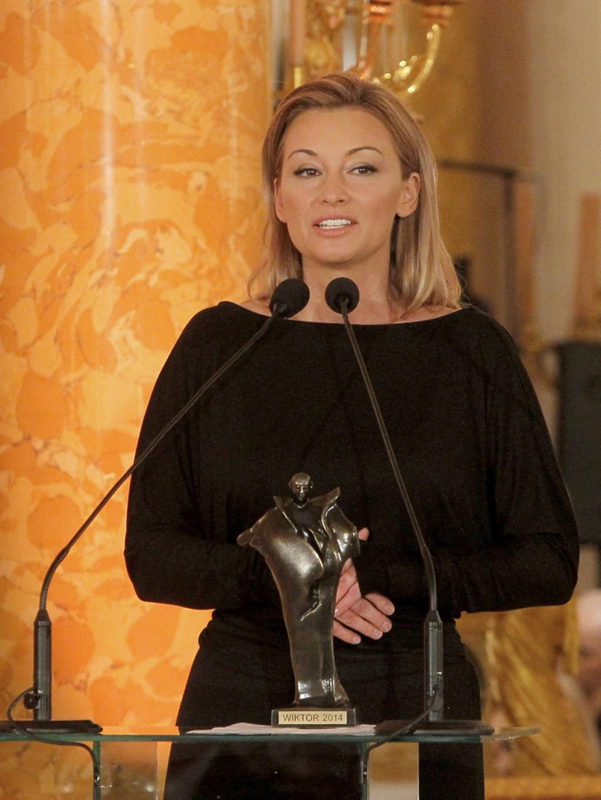 Martyna Wojciechowska na rozdaniu Wiktorów 2015