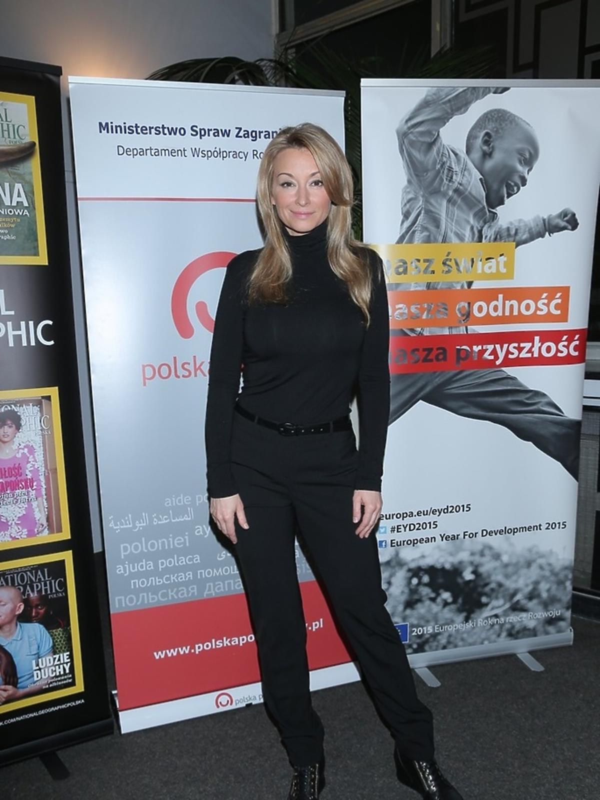 Martyna Wojciechowska ubrana na czarno