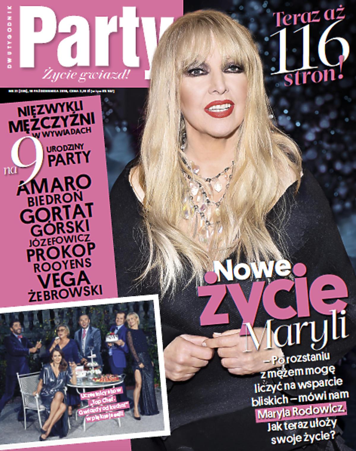Maryla Rodowicz na okładce urodzinowego numeru Party