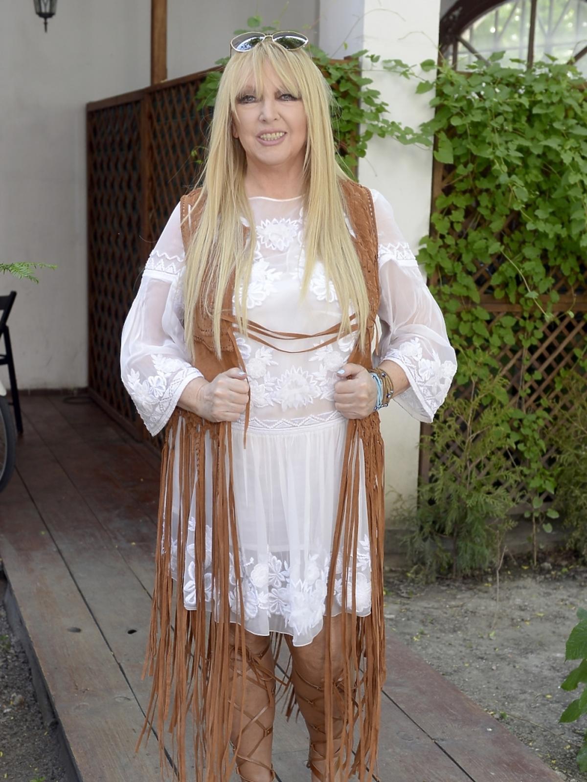 Maryla Rodowicz na premierze teledysku