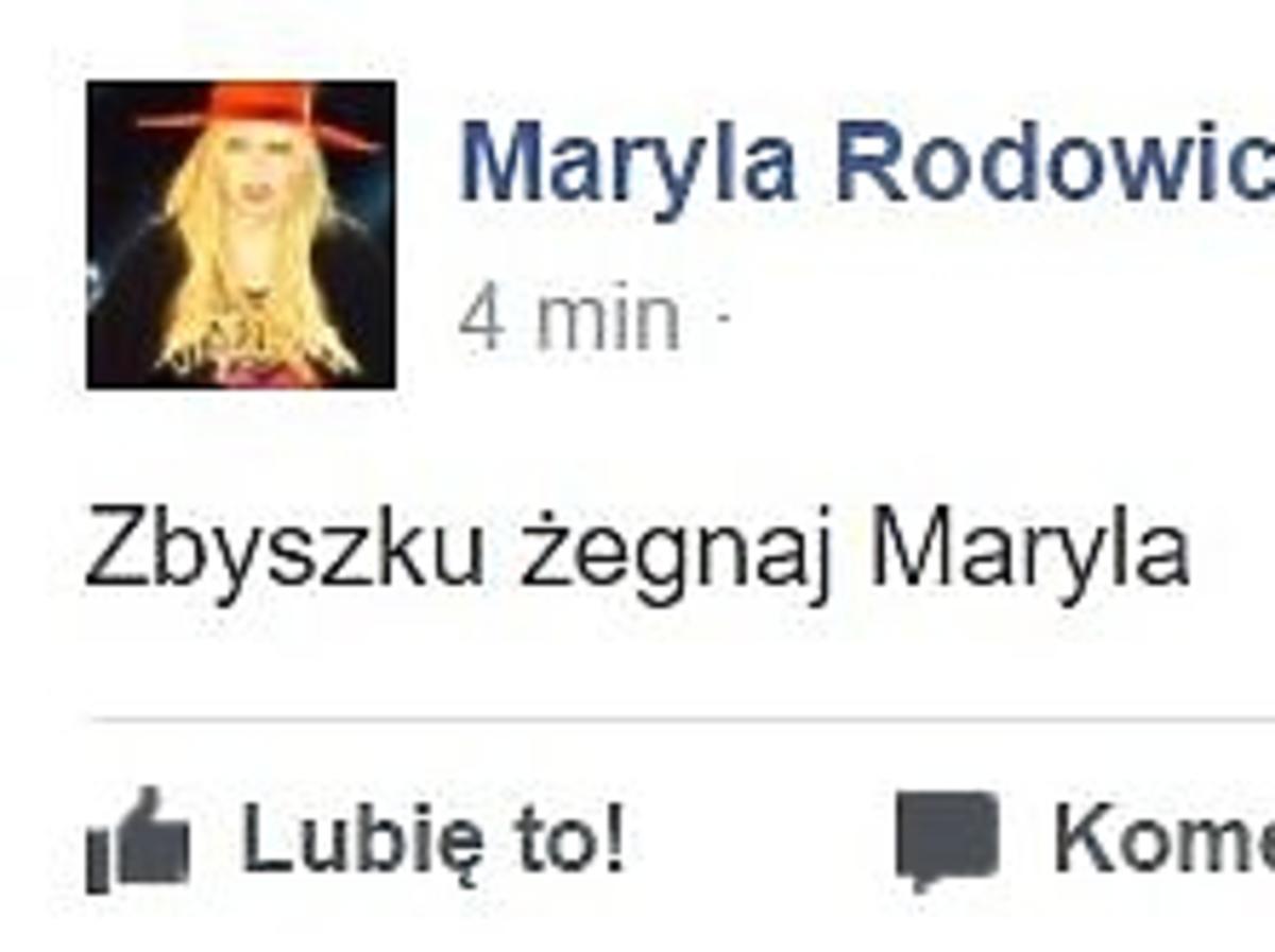 Maryla Rodowicz żegna Zbigniewa Wodeckiego