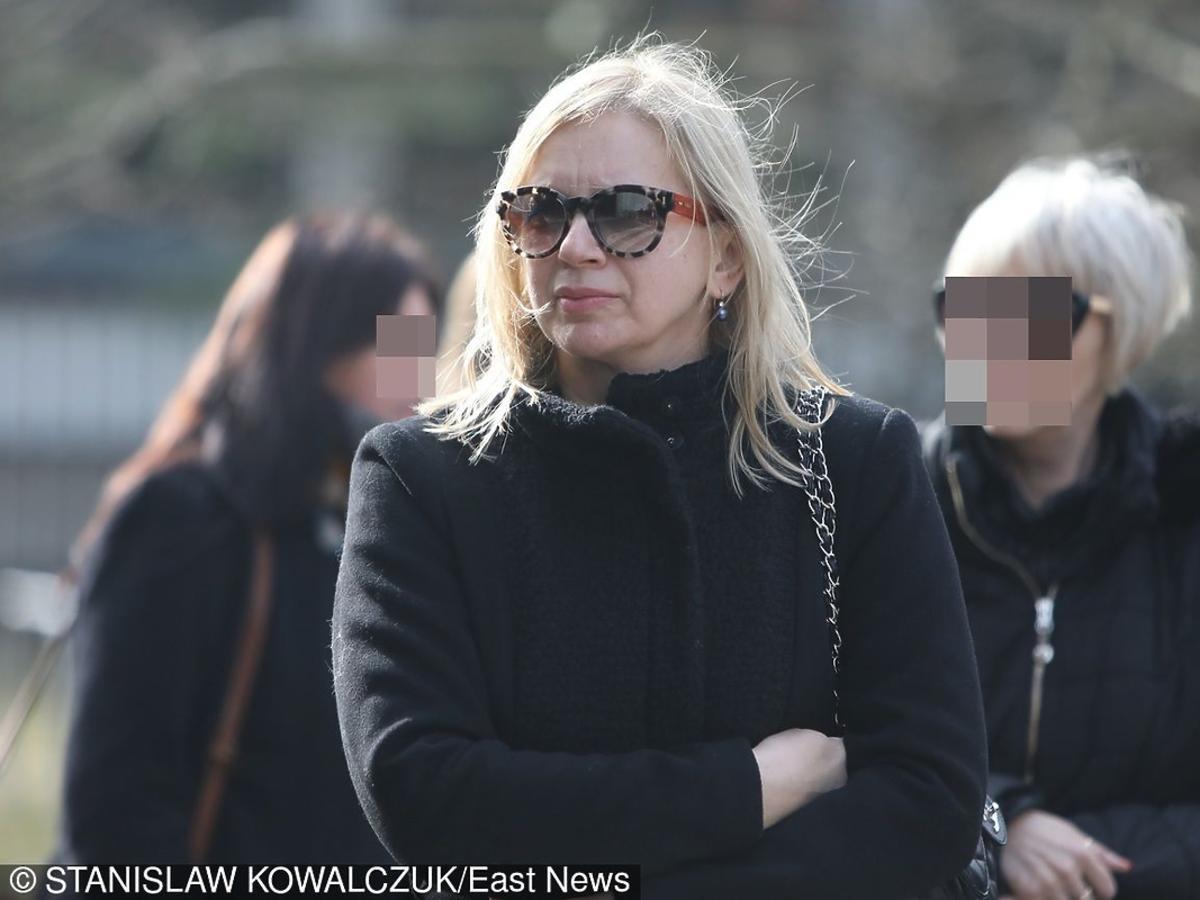 Marzena Rogalska na pogrzebie Danuty Szaflarskiej