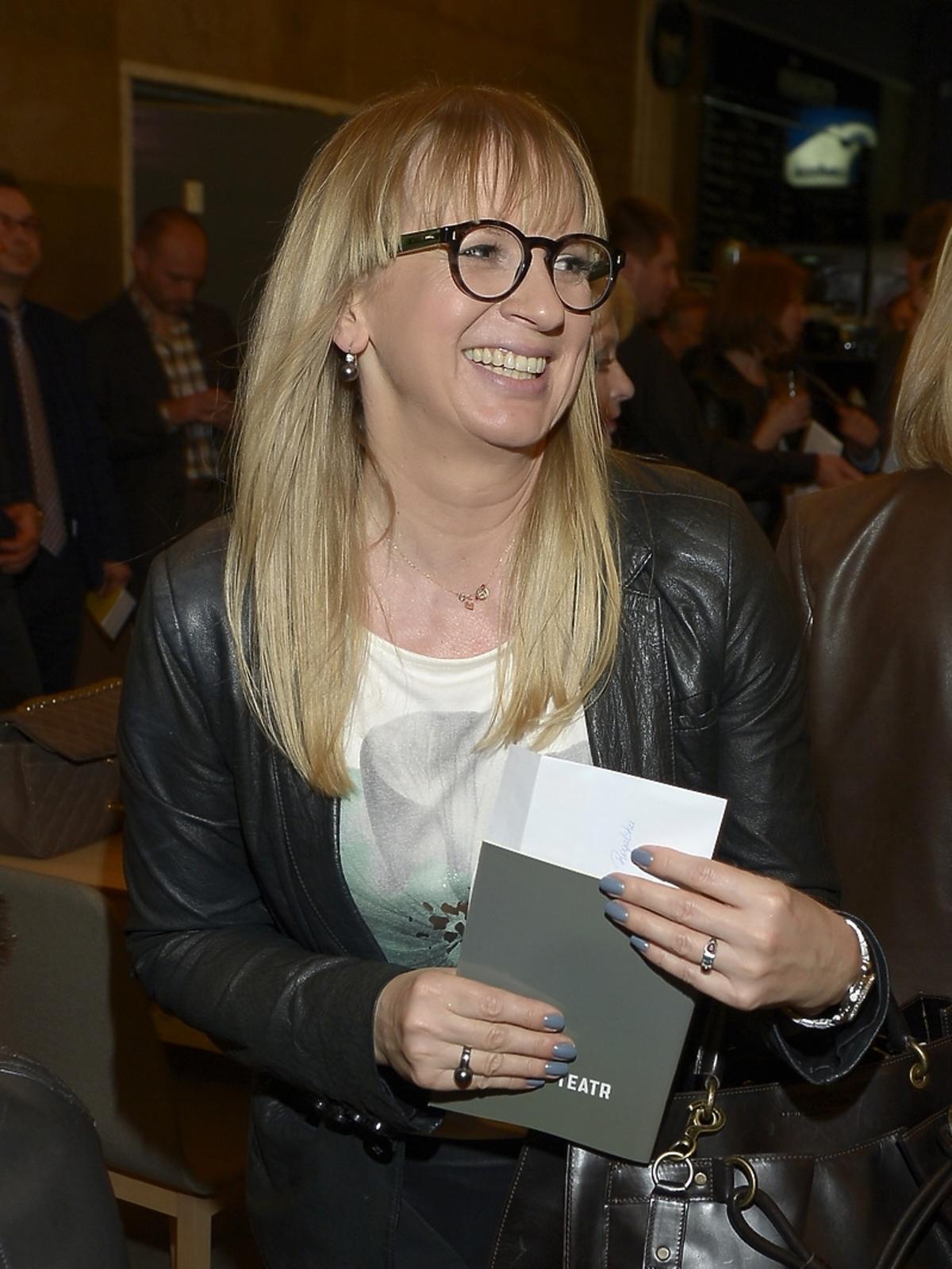 Marzena Rogalska na premierze spektaklu