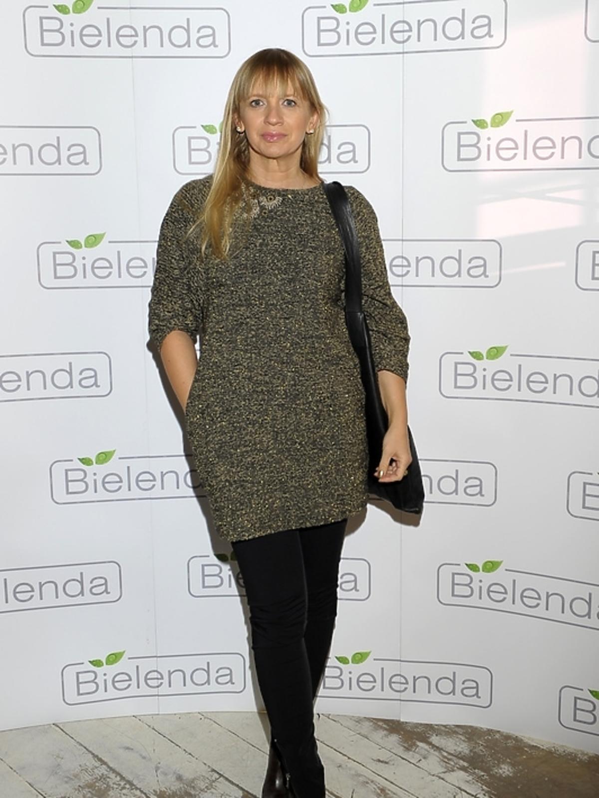 Marzena Rogalska na prezentacji kosmetyków marki Bielenda