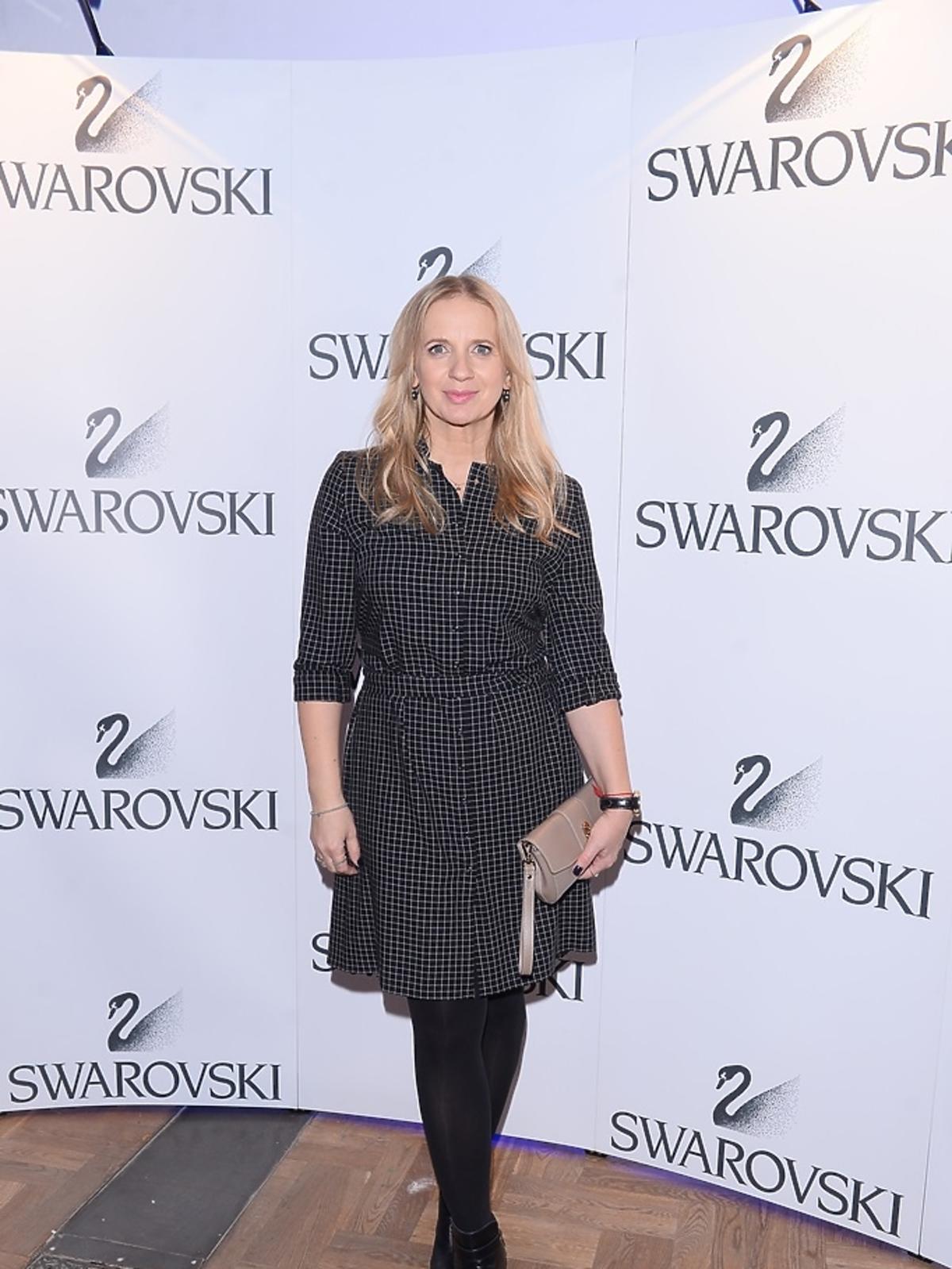 Marzena Rogalska w czarnej sukience