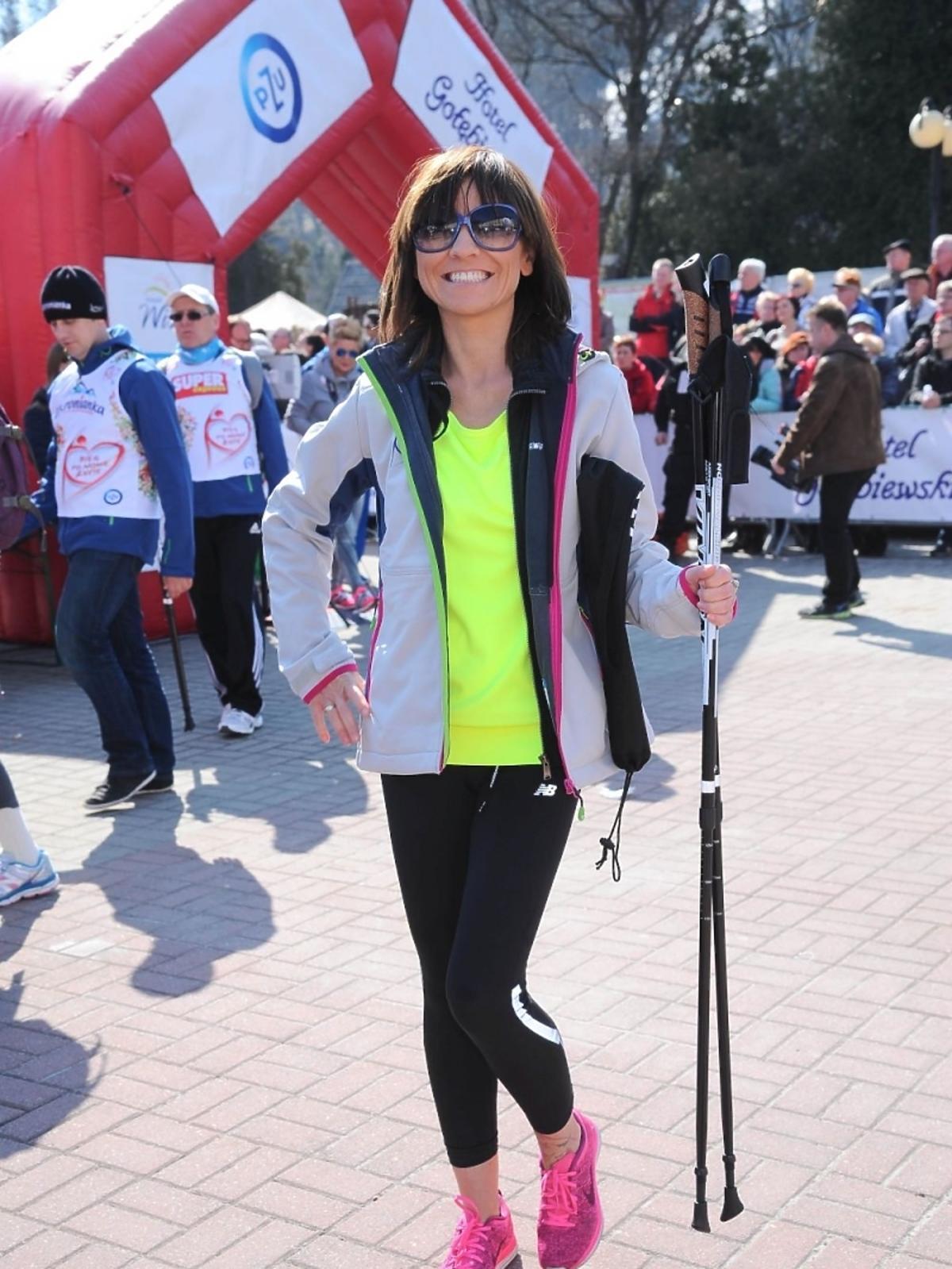Marzena Sienkiewicz na charytatywnym biegu
