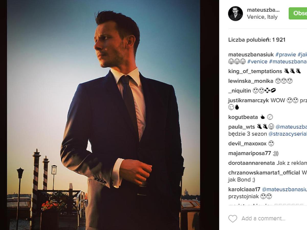 Mateusz Banasiuk na ślubie Agnieszki Szulim