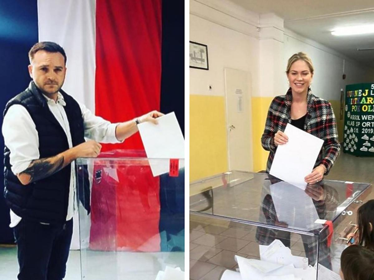 Mateusz Gessler i Zofia Ślotała głosują w wyborach