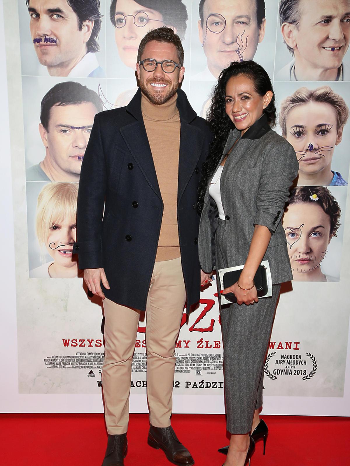 Mateusz Grzesiak i Iliana Ramirez na premierze