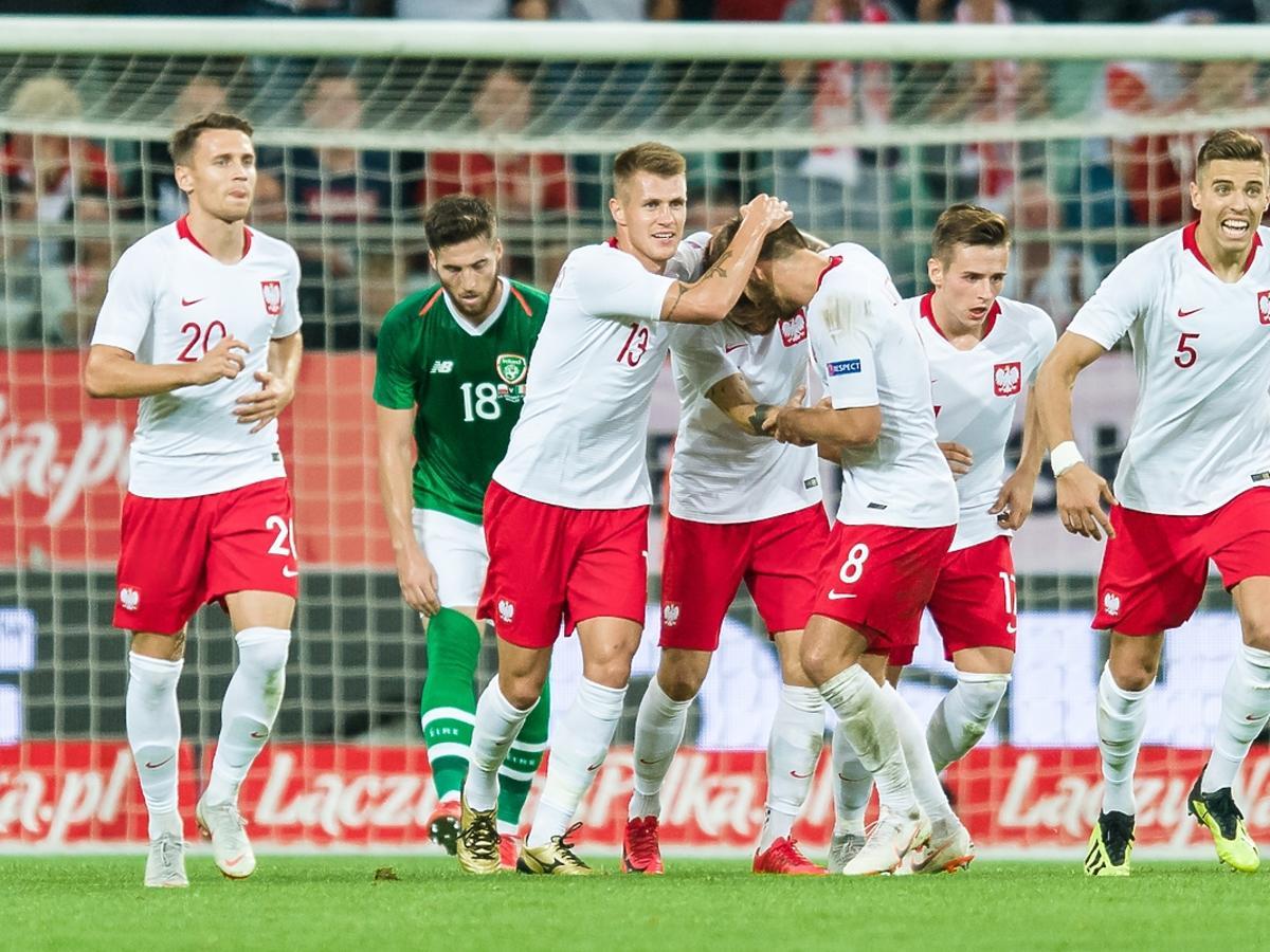 Mateusz Klich po zdobytym golu z Irlandią dla reprezentacji Polski