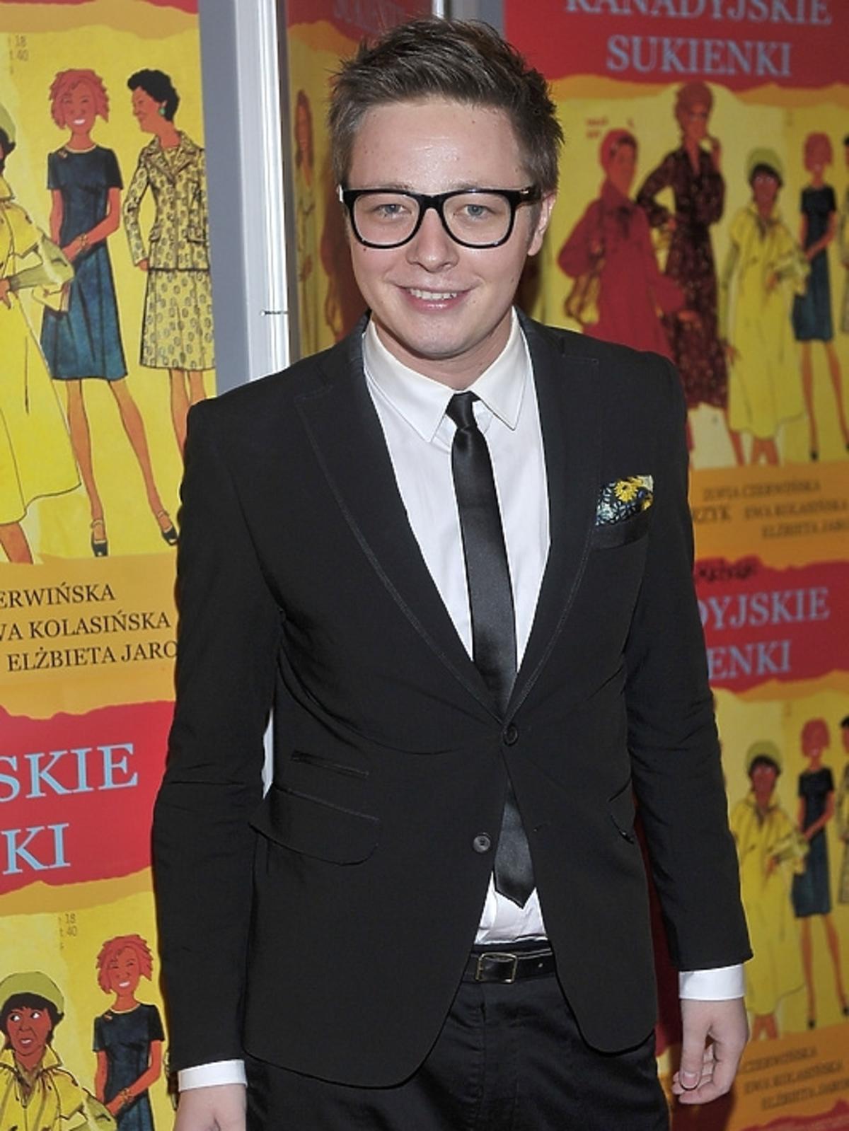Mateusz Szymkowiak na premierze filmu