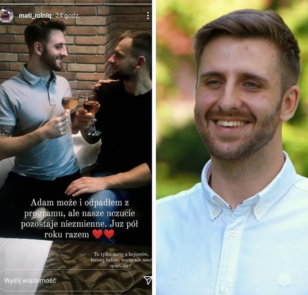 Mateusz z Rolnik szuka żony pokazał zdjęcie z Adamem