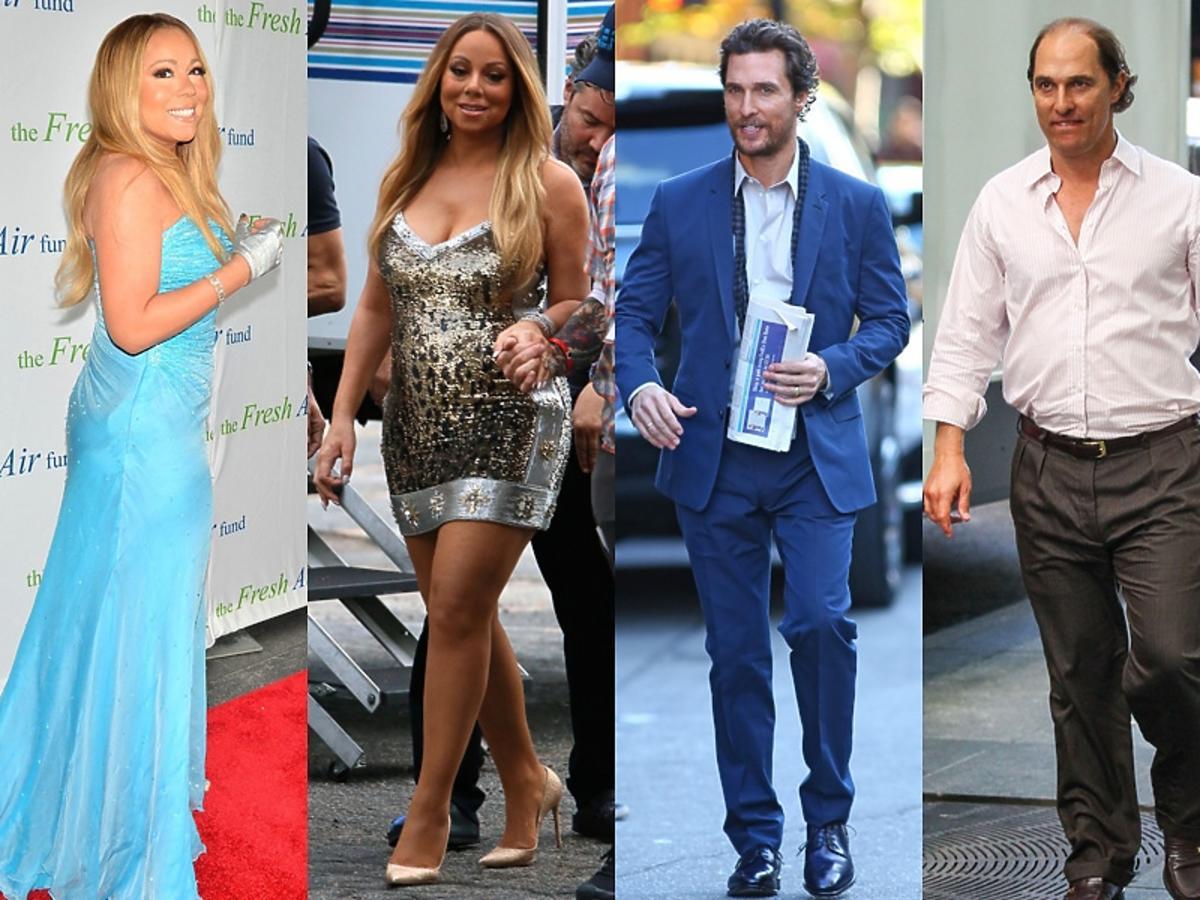 Matthew MacConaughey Mariah Carey porównanie sylwetek